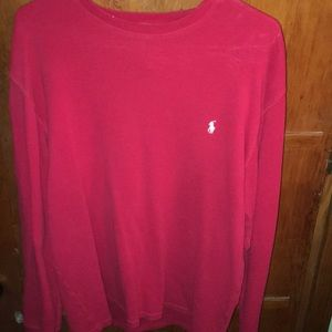 Polo Raplh Lauren red long sleeve